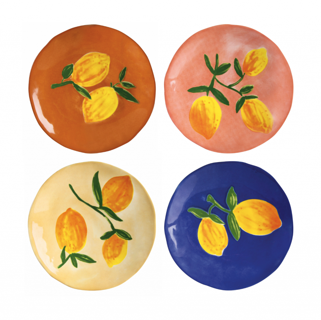 &klevering Lemon Side Plates (set of four) £40, Trouva