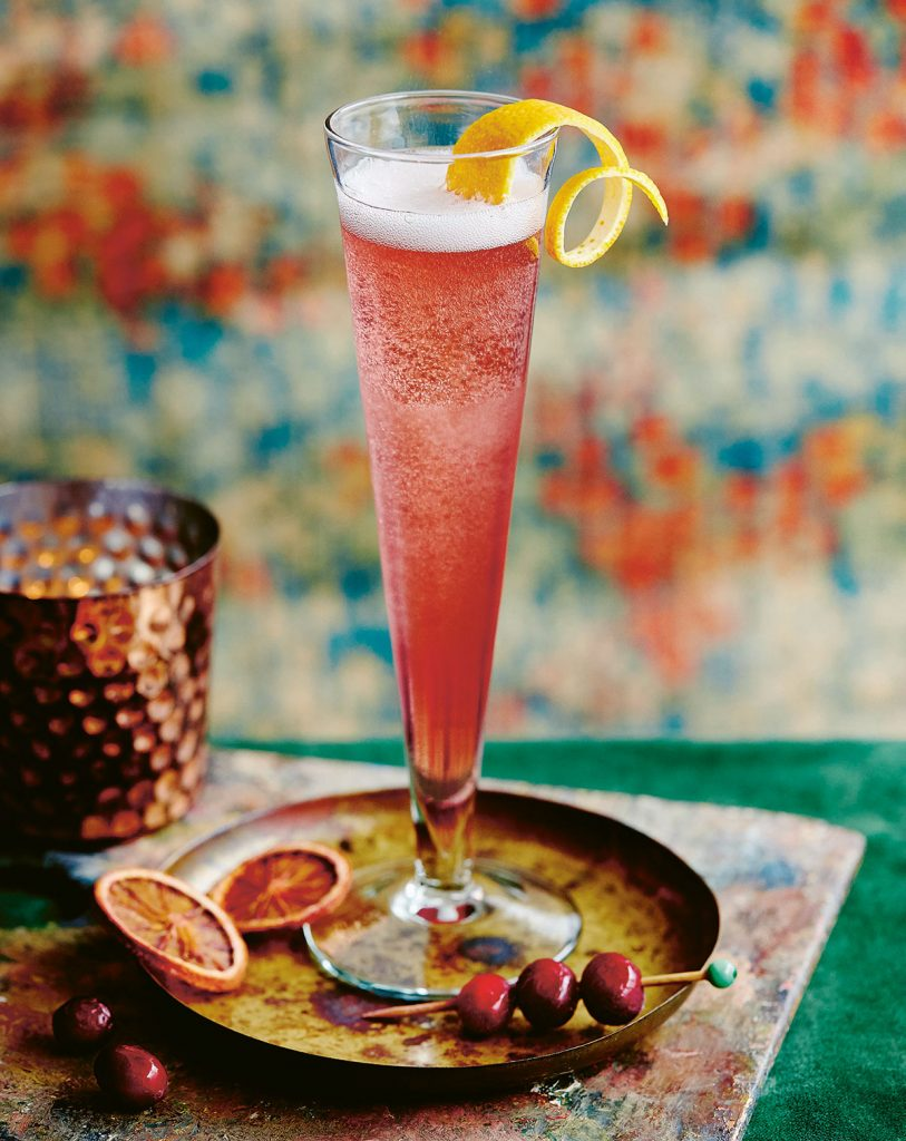 Cranberry and Orange Sparkler from Winter Drinks published by Ryland Peters & Small