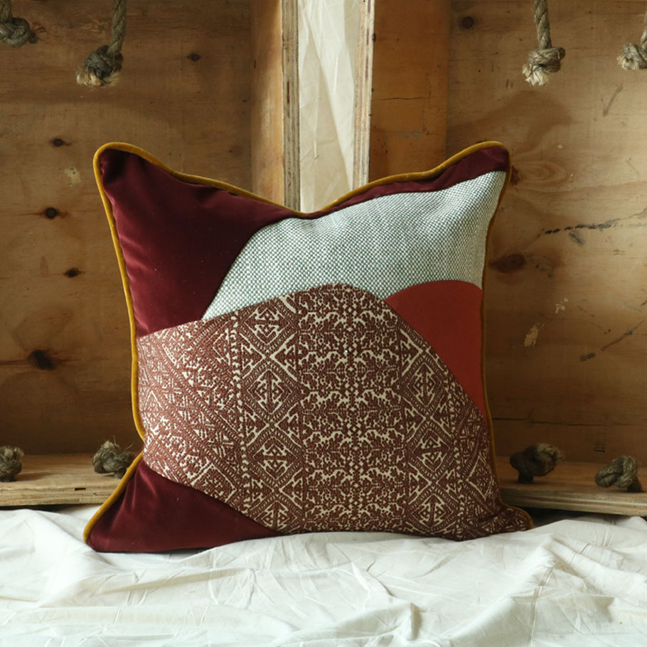 SISTER BY STUDIO ASHBY Autumn Patchwork Cushion