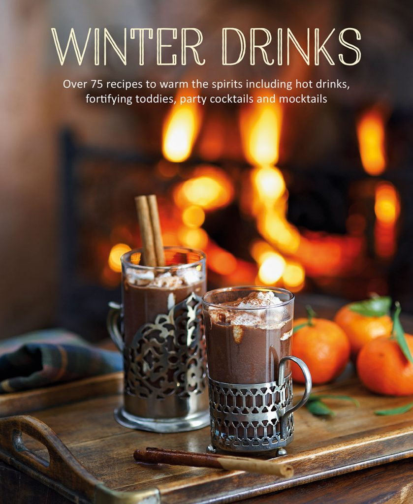 Winter Drinks, published by Ryland Peters & Small book jacket featuring hot chocolate