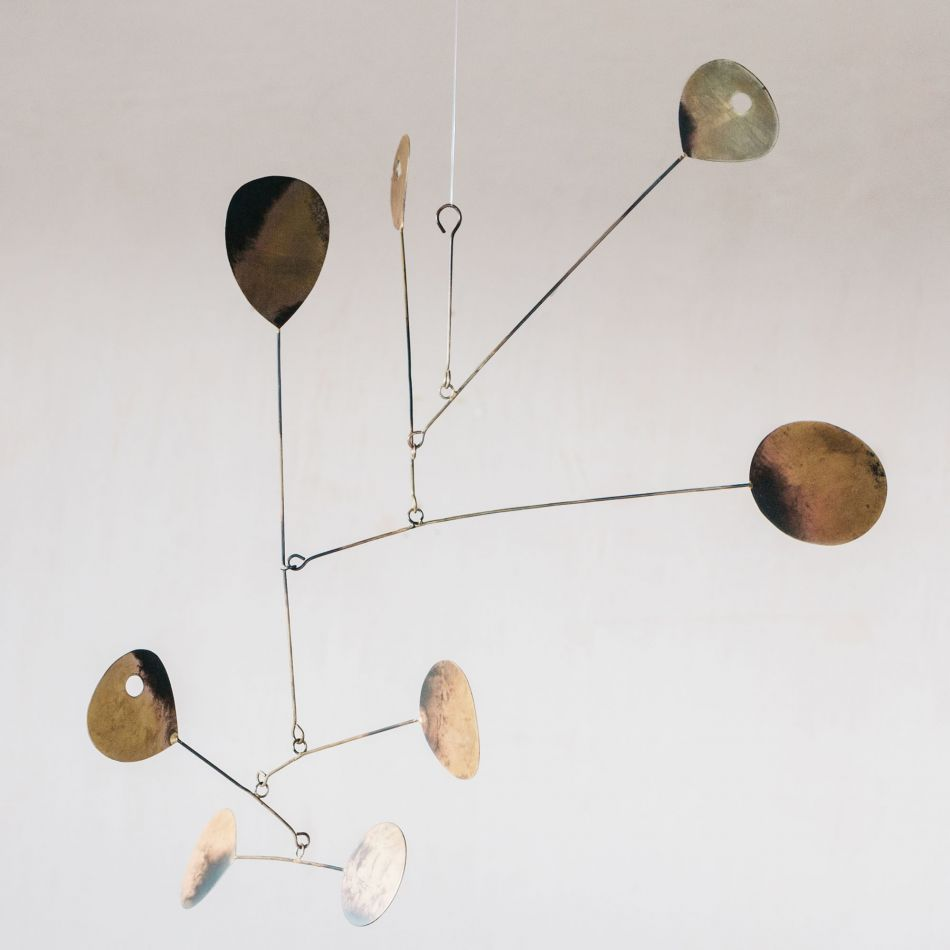 Burnt brass hanging mobile Graham & Green