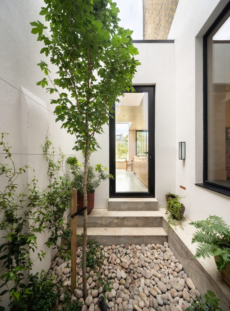 Gemma Ruse internal courtyard, tsubo niwa with acer tree and climbing jasmine. Photography by Fraher & Findlay/AdamScott