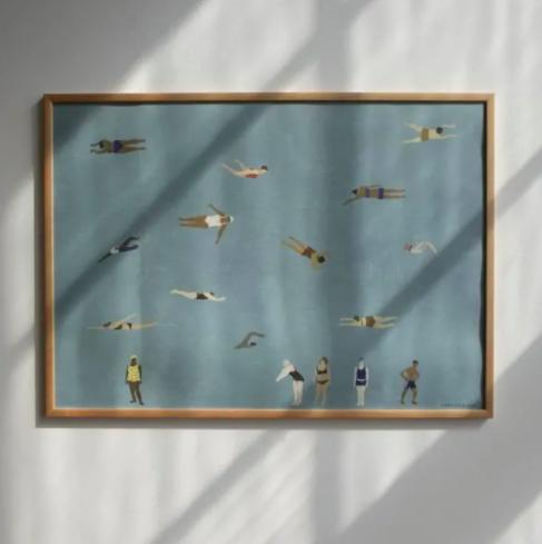 Swimmers print by Elisabeth Dunker, 70x50cm, £30, Trouva
