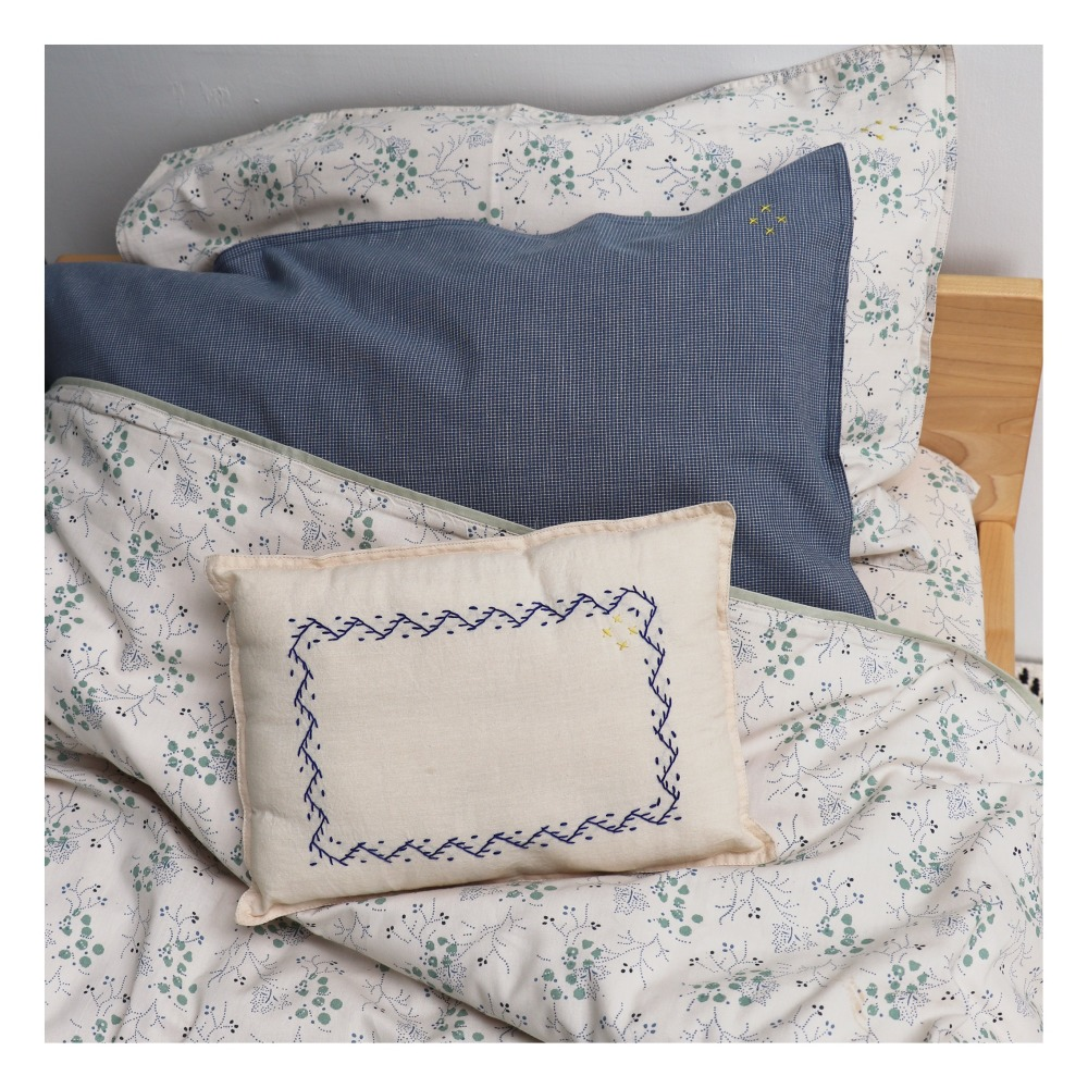 Minako floral cotton cushion Smallable