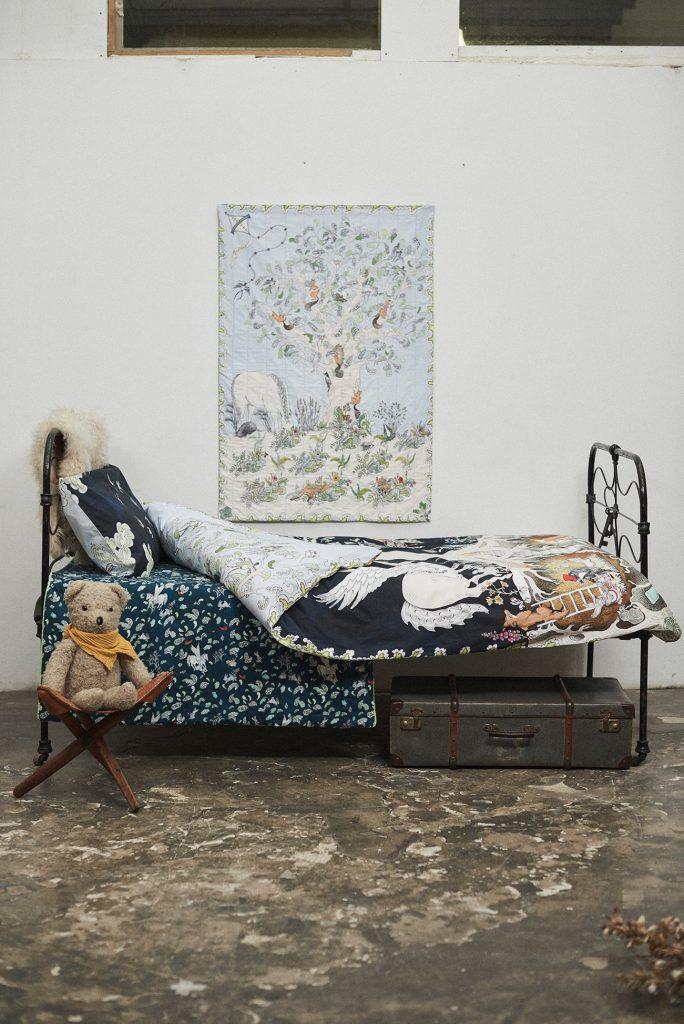 Forivor organic children's bedding The Enchanted Forest Duvet Set bedroom ©Jon Gorrigan