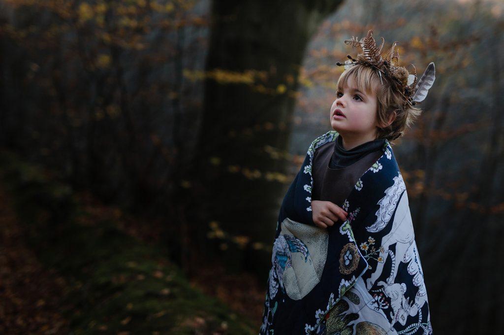 Forivor organic children's bedding The Enchanted Forest Quilted Blanket © Jon Gorrigan