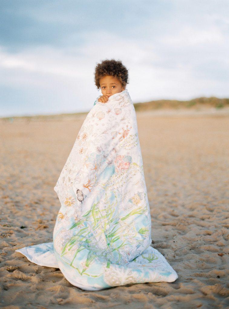Forivor organic children's bedding The Legends of the Sea quilted blanket © Jon Gorrigan