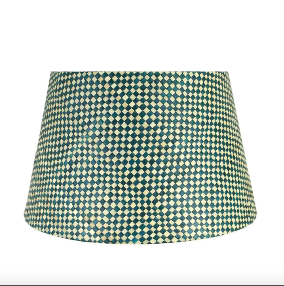 30cm woven lampshade in midnight, £60, Birdie Fortescue