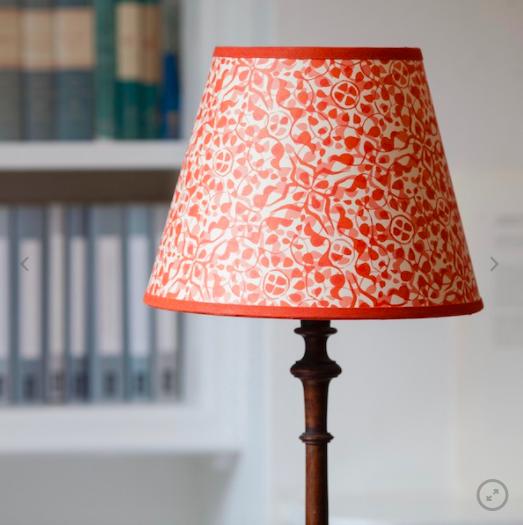 25cm printed paper lampshade, £60, Cambridge Imprint