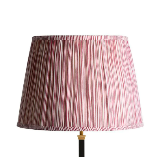 40cm candy stripe block print lampshade, £69, Pooky