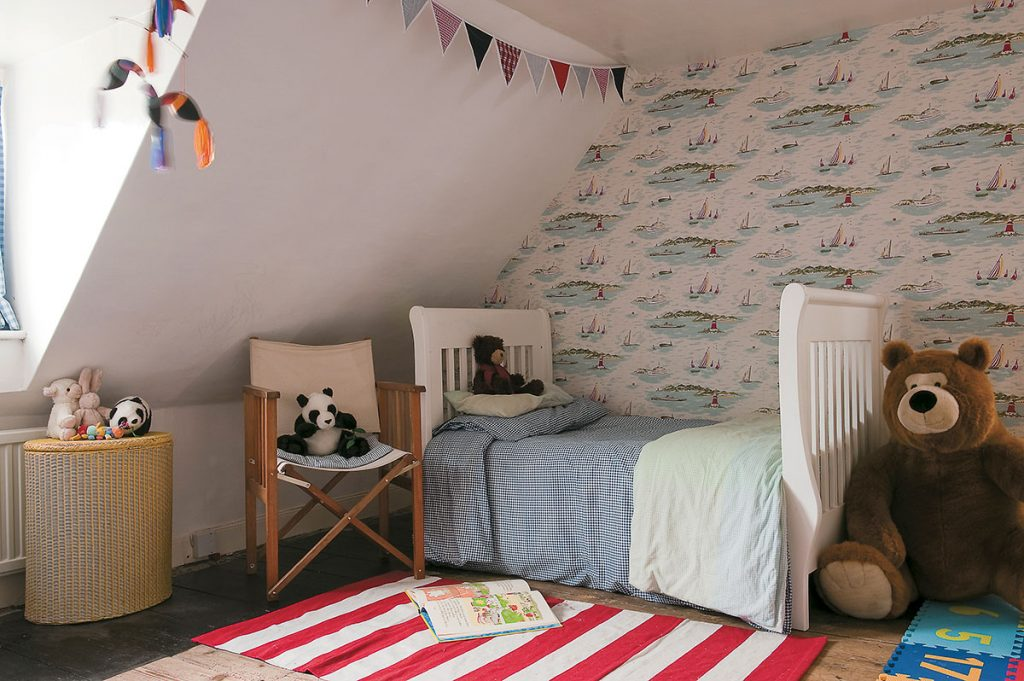 Child's bedroom at Lamb House, East Sussex, designed by Francesca Rowan Plowden