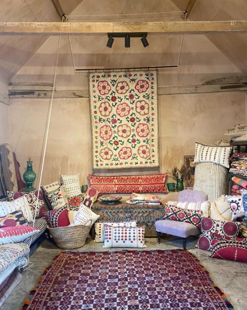 The studio of Francesca Gentilli textiles