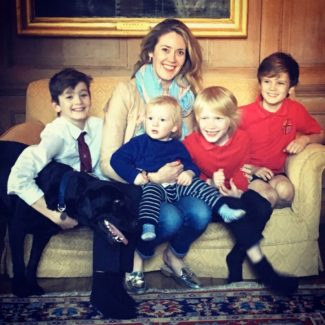 Francesca Rowan Plowden and her four sons at Lamb House, Rye, East Sussex