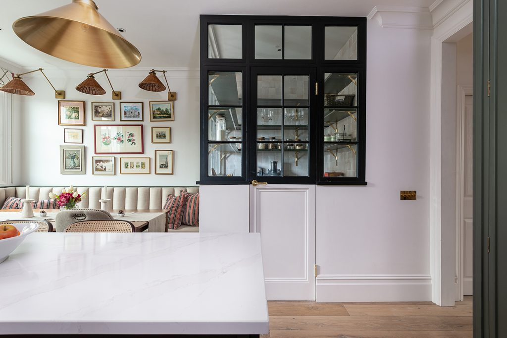 Herringbone Kitchens pantry Notting Hill project