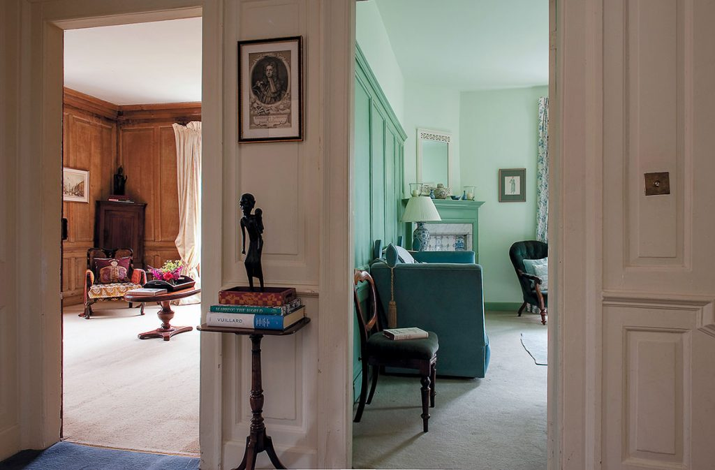 View to the Green Room and King's Room at Lamb House in Rye, East Sussex. Designed by Francesca Rowan Plowden