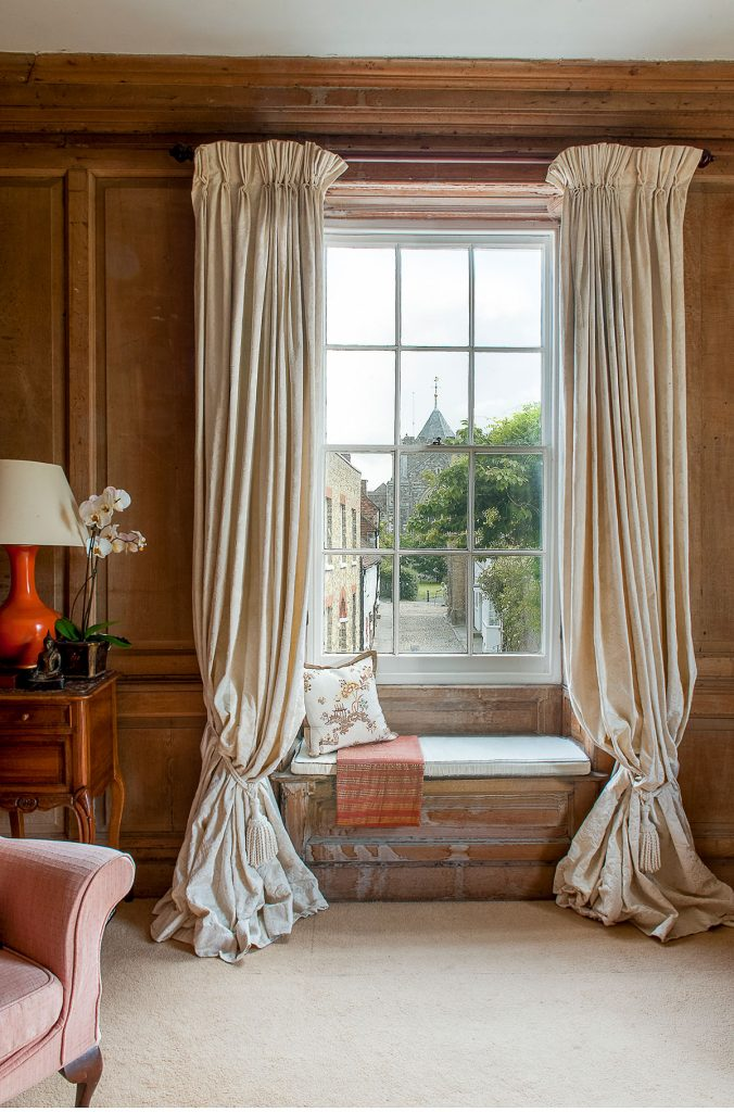 View from the King's Room at Lamb House in Rye, East Sussex. Decorated by Francesca Rowan Plowden