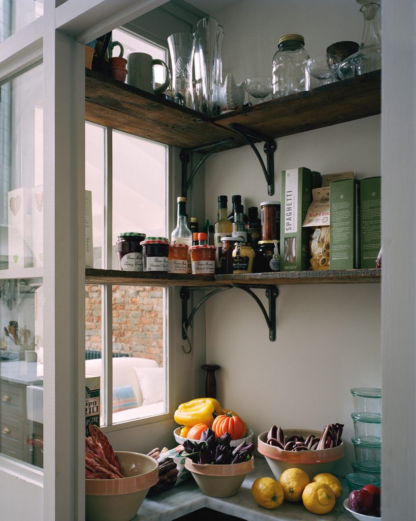 the pantry in the kitchen of interior designer Mark Lewis © Rory Gardiner