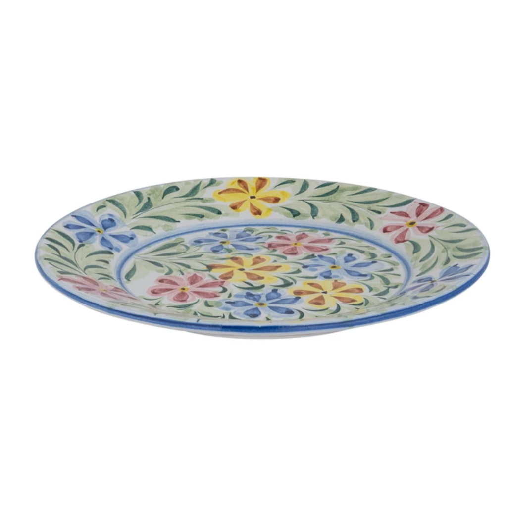 Multi-Coloured Floral Hand Painted dinner plate, £38, Edition 94