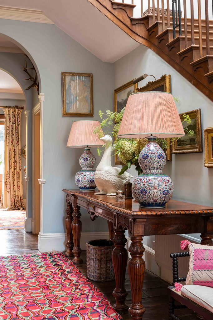 The hallway at interior designer Penny Morrison's Welsh home © Mike Garlick Photography