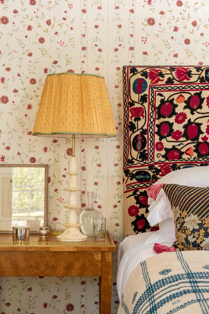 A bedroom at interior designerPenny Morrison's home in Wales © Mike Garlick Photography