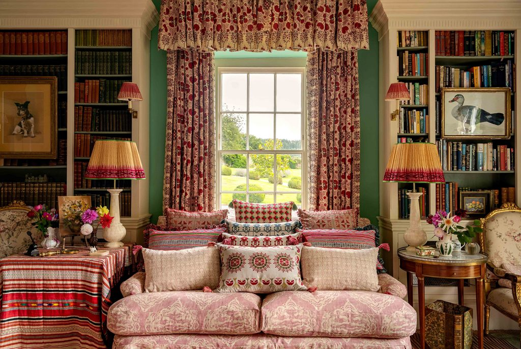Interior designerPenny Morrison's cosy drawing room at her home in Wales © Mike Garlick Photography