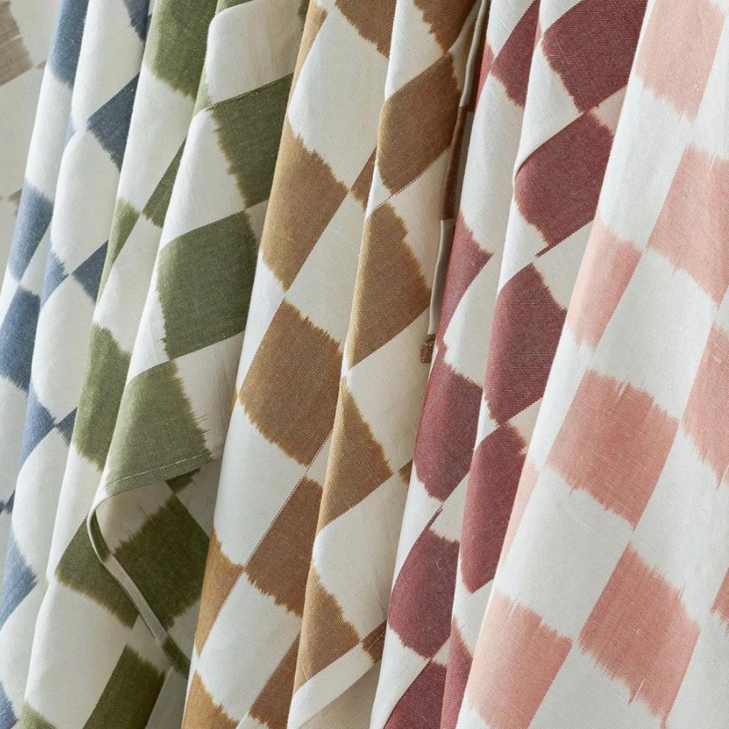 Susie Atkinson fabric range, in chequerboard
