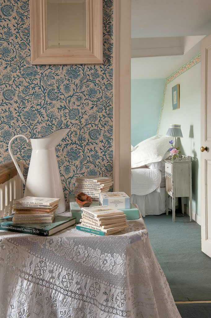 View to bedroom at Lamb House, East Sussex, designed by Francesca Rowan Plowden