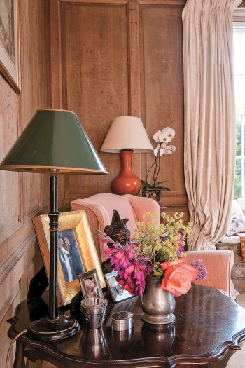 Detail of the King's Room at Lamb House in Rye, East Sussex. Designed by Francesca Rowan Plowden