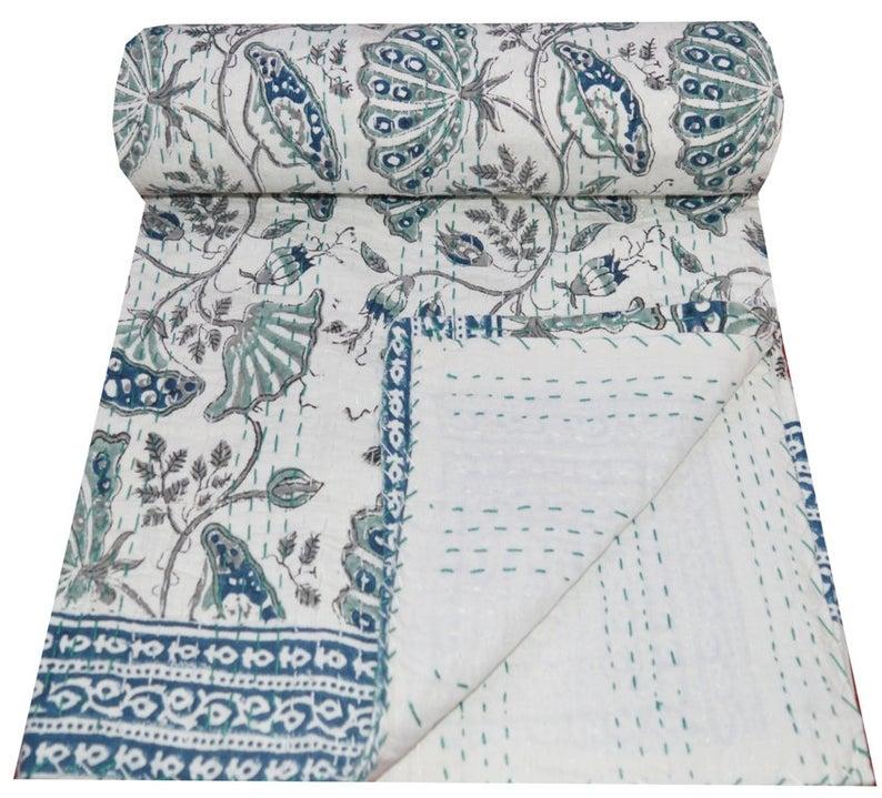 Indian block print kantha throw, £39.99, Etsy
