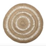 Bloomingville round indoor/outdoor jute rug, £239, Amara