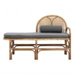 Nordal rattan bench with mattress, £636, Amara