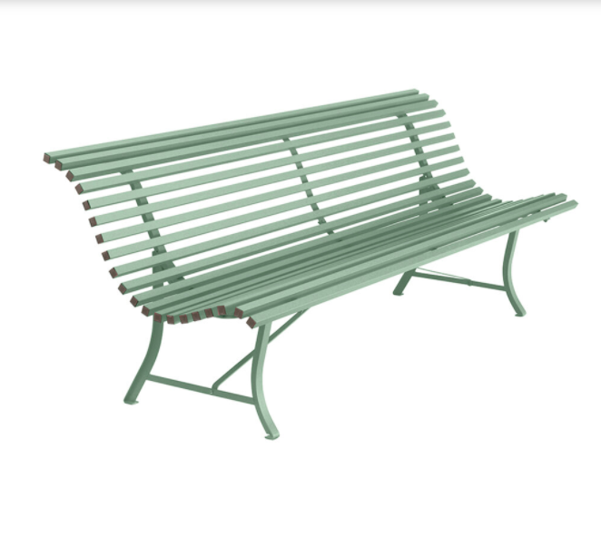 Fermob garden bench, £615, Amara