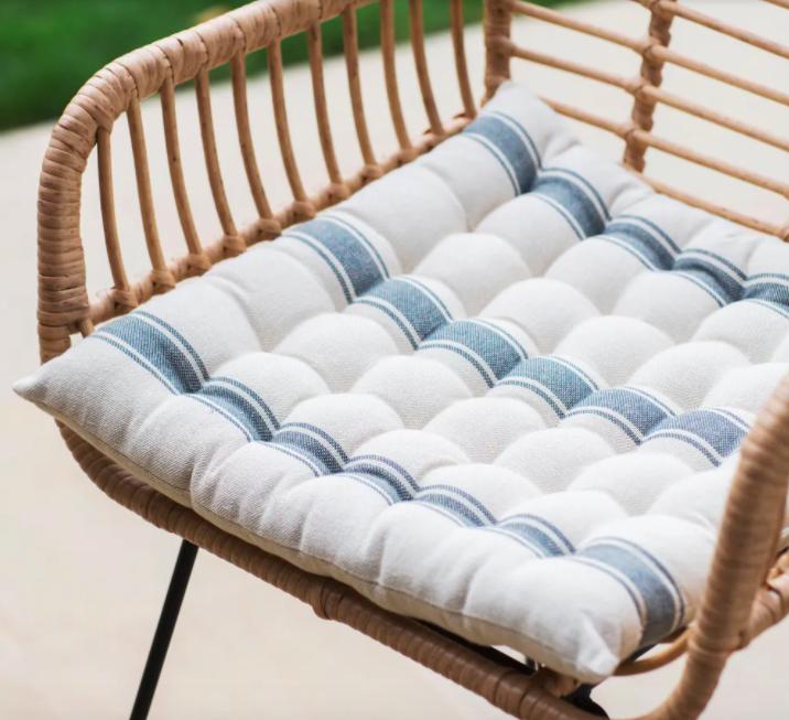 Cotton seat pad, £13, Garden Trading
