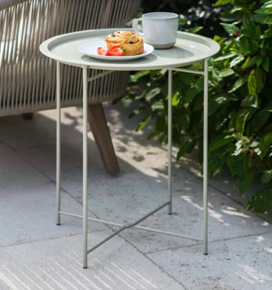 Bistro tray table, £30, Garden Trading