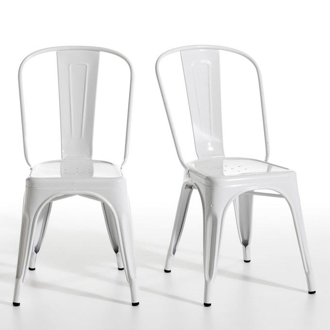 Set of 2 Tolix chairs, La Redoute