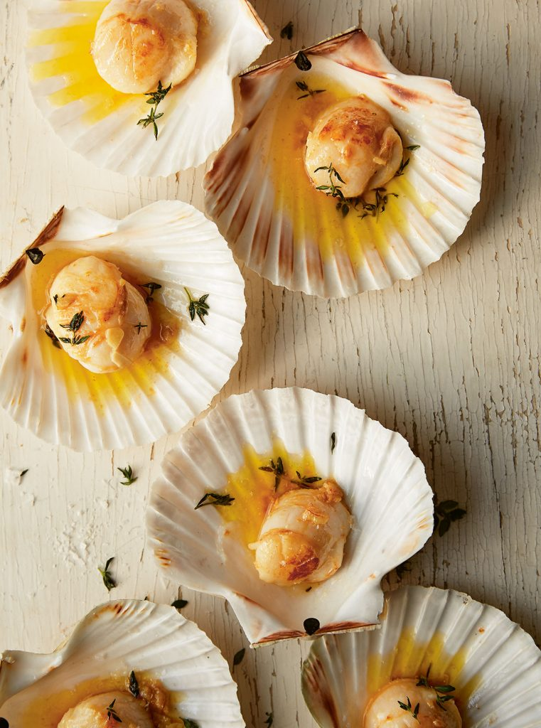 Cornish scallops from Sea and Shore by Emily Scott