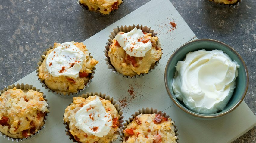 Red pepper and parmesan cupcakes by Alzheimer's Society