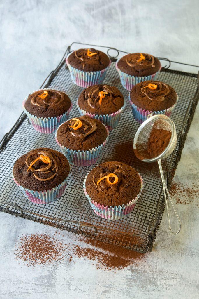 Vegan orange cupcake by Alzheimer's Society