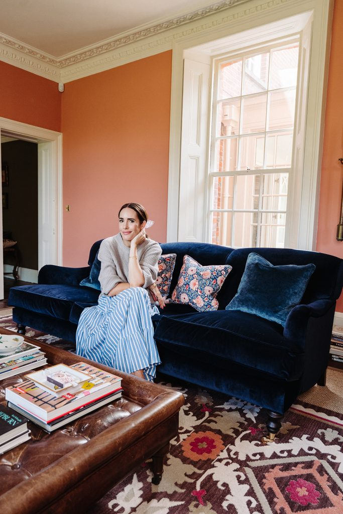 Louise Roe in her living room