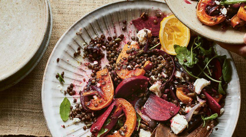 Modern Preserver's Kitchen by Kylee Newton Roast Butternut, Pickled Beetroot Salad ©Laura Edwards