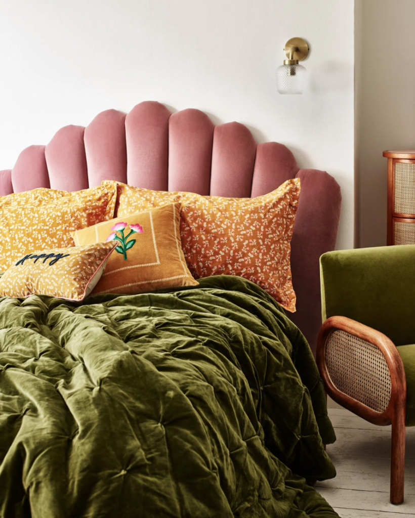 Cosy Autumnal bedding from Oliver Bonas