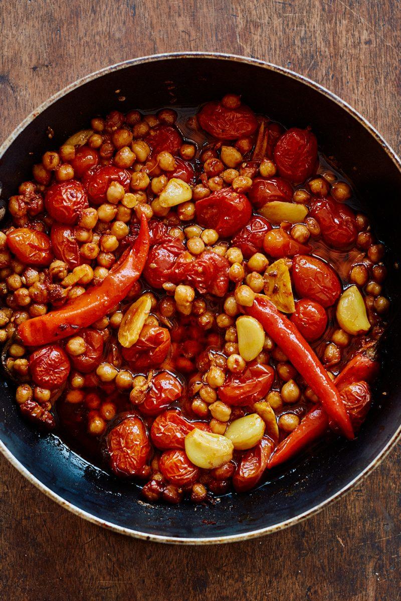 Tandoori chickpea recipe from Shelf Love by Ottolenghi Test Kitchen. Image: Elena Heatherwick